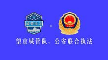 望京城管队、公安联合执法 拘留无照游商5人