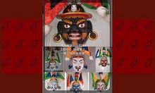 格薩爾王面具一套七個---供養蘇曼比丘尼寺玉樹中心-項目已圓滿