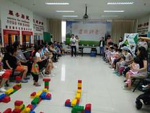 望京园举办机器人和纸艺花项目