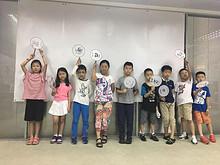 """望京街道举办""""多彩暑期——画扇面、写福字""""活动"""