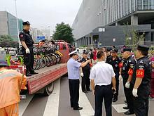 望京街道开展清理乱停乱放共享电单车专项行动