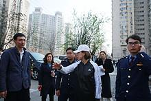 望京街道办事处副主任王溦带队对辖区进行创卫检查