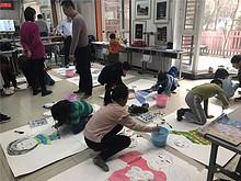 望湖社区创意绘画课堂  和谐亲子关系
