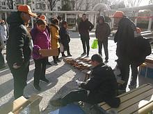 望京社区有个磨刀节 方便实惠还免费