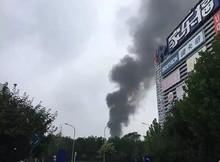北四环东路望京桥宜家附近着火 已被扑灭