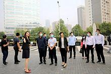北京市政府研究室到望京小街调研