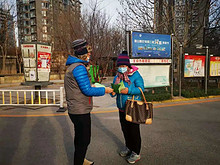 望京西路社区开展冬春季传染病宣传活动