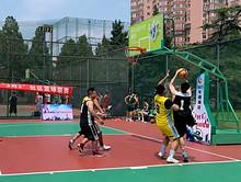 """东湖街道社区代表队参加 2021年朝阳区""""3对3""""社区篮球联赛"""