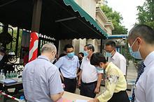 市疫情防控领导小组派驻朝阳区督导组到东湖开展疫情防控督导工作