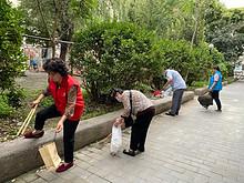花家地西里社区:进了院门就是家,花西志愿者的一天