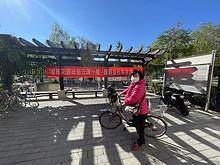 """望京花园社区第三次""""三清一整""""废旧自行车兑换活动"""